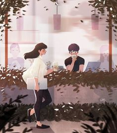 Stranger x Crush, Diobelle Cerna Love Wallpaper Backgrounds, Wallpapers, Blur Photography, Animated Love Images, Photoshop, Anime Couples Drawings, Love Illustration, Pics Art, Poses