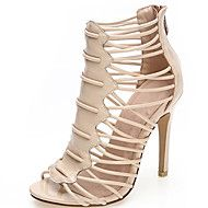 Women's+Shoes+Leather+Stiletto+Heel+Heels+/+Open+Toe+Sandals+Party+&+Evening+/+Dress+/+Casual+Black+/+White+/+Nude+–+USD+$+137.00