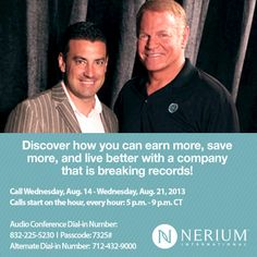 Listen to the short 15 minute call!  It could change your life!  If you're interested, contact me to discuss your future with Nerium!  www.emilywintle.nerium.com 620-717-2233