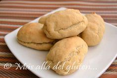Más allá del gluten...: Pan Crujiente Sin Gluten, Sin Huevos y Sin Levadura (Receta GFCFSF, Vegana)