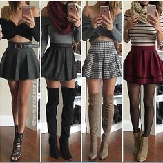 Cute ways to wear a skater skirt