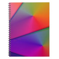 Rainbow Origami – Indigo & Magenta Swirls notebook  #DianeClancy