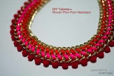Red and neon pink statement necklace........