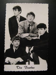Vintage Old Postcard The beatles old postcards...real photos!