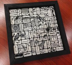 Dishing With Janet: stamped domino frame