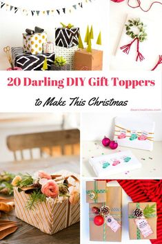 DIY Gift Toppers-diy-gift-toppers-ideas-to-inspire-and-delight-you-youll-enjoy-making-any-of-these-festive-diy-gift-toppers-for-christmas-holidays-and-other-celebrations Homemade Christmas Crafts, Christmas Crafts For Adults, Diy Holiday Gifts, Diy Gifts, Christmas Diy, Holiday Ideas, Christmas Gift Tags Printable, Christmas Gift Wrapping, Birthday Gifts