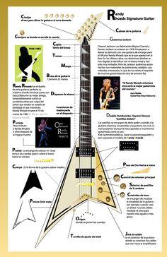 Randy Rhoads Guitar by B-SiX (Mexico) http://www.guitarandmusicinstitute.com