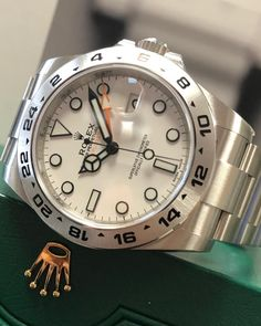 Probably the most underrated Rolex of them all. The Rolex Explorer II has differentiation from other Rolex models with it's larger 42mm case. This particular watch has the fresh faced white dial and is often refereed to as the 'Polar Explorer'