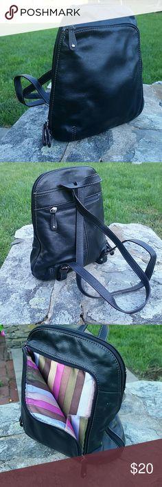 Tignanello backback purse All leather excellent condition 10x12 Tignanello Bags Backpacks