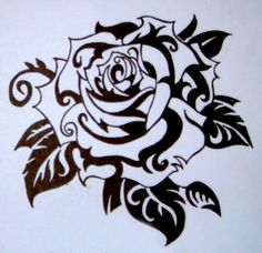 Tribal Rose by Kerry Kingdon, via Behance