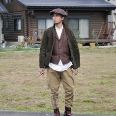 "BLACK SIGN ""Antique Chino Sheriff Breeches""#blcksign"