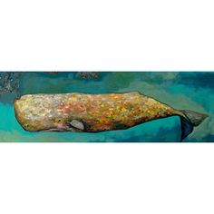 FREE SHIPPING! Shop Wayfair for GreenBox Art 'Whale in Seafoam' by Eli Halpin Painting Print on Canvas - Great Deals on all Decor products with the best selection to choose from!