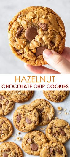 Hazelnut Cookies, Gluten Free Chocolate Chip Cookies, Chocolate Chip Cookie Dough, Chocolate Hazelnut, Gluten Free Cookies, Gluten Free Baking, Gluten Free Desserts, Easy Cookie Recipes, Gf Recipes