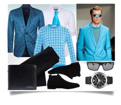 """Men's Fashion"" by jeneric2015 ❤ liked on Polyvore featuring Stone Rose, Salvatore Ferragamo, Billionaire, Zodaca, ORLEY, Prada, Lands' End, Emporio Armani, Burberry and men's fashion"