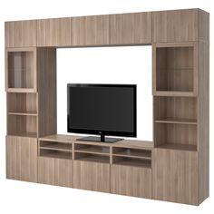 BESTÅ, TV-Komb. mit Vitrinentüren, Lappviken, Jetzt bestellen unter: https://moebel.ladendirekt.de/wohnzimmer/tv-hifi-moebel/tv-waende/?uid=59734666-a800-596d-887c-2742059fb361&utm_source=pinterest&utm_medium=pin&utm_campaign=boards #tvwaende #wohnzimmer #tvhifimoebel