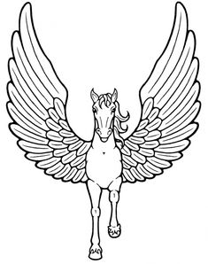 Pegasus ~ Mythical Creatures Coloring Pages