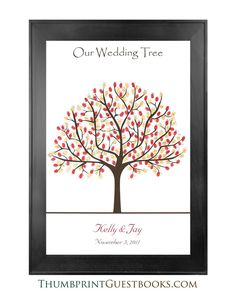 Thumbprint Guestbook Tree # 1 Fall Colors  Check it out http://thumbprintguestbooks.com/thumbprint-guestbook-tree-1-fall-colors/