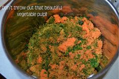 Vegetable Stock from Leftover Vegetable Pulp