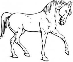 A list of free horse coloring pages.  HelloKids site you can print from and color online.