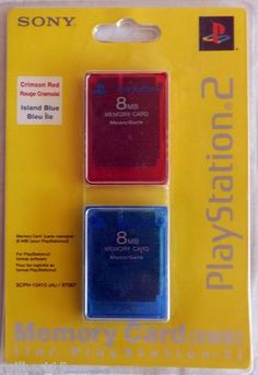 Sony Play Station 2 Two 8 MB Memory Cards In Original Package