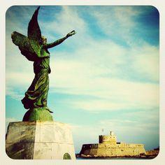 Mandraki Harbour, Rhodes, Greece. Visit #Greece. From instagram @original21
