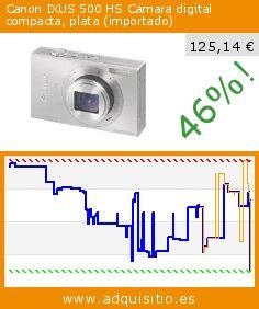 Canon IXUS 500 HS Cámara digital compacta, plata (importado) (Electrónica). Baja 46%! Precio actual 125,14 €, el precio anterior fue de 231,38 €. http://www.adquisitio.es/canon/ixus-500-hs-c%C3%A1mara-1