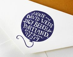 Hand Drawn Custom Address Stamp: Handmade Balloon Stamp - Great for Wedding, Snail Mail, and Work Correspondence on Etsy, $89.00
