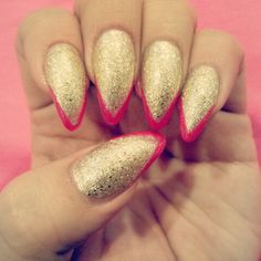 Gold & pink tips