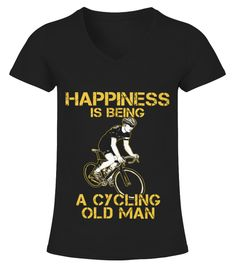 Best Limited   Happy Cycling Old Man front Shirt Cycling T-shirt