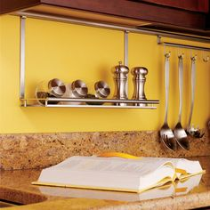 Kitchen Storage & Accessories Multi-Purpose Shelf, Backsplash Railing System - order from the Häfele America Shop. Wall Mounted Ironing Board, Kitchen Backsplash, Shelves, Kitchen Countertops, Hafele, Backsplash, Kitchen, System Kitchen, Kitchen Storage