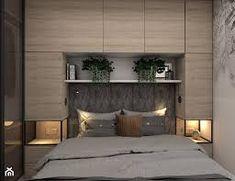 Znalezione obrazy dla zapytania zabudowa nad łózkiem w sypialni Small Bedroom Interior, Fitted Bedroom Furniture, Fitted Bedrooms, Luxury Bedroom Design, Small Master Bedroom, Apartment Interior, Apartment Design, Small Bedroom Designs, Wardrobe Design Bedroom