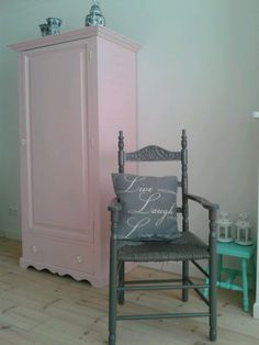 Old closet and chair