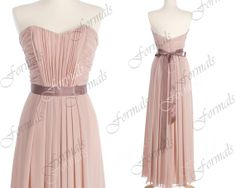 Strapless Sweetheart Chiffon Peal Pink Long Prom by Formals, $129.00