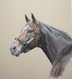Horse painting by Len Jagoda: Tiznow
