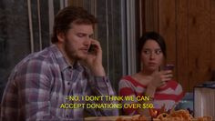 Andy Dwyer raising money for Leslie's campaign