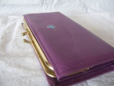Vintage Faberge Purple Ladies Wallet  Change by mimishomefashions