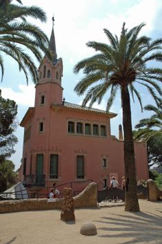 Park Guell designed by Gaudi & the museum that was his home in Barcelona, Italy