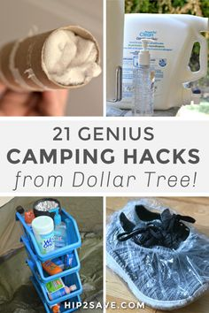 Love to go camping? Try frugal Dollar Tree camping hacks and tips that are genius and will save you both time and money! Travel Trailer Camping, Camping Glamping, Diy Camping, Camping Life, Family Camping, Outdoor Camping, Camping Stuff, Women Camping, Travel Trailers