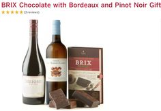 5-star rated Brix Chocolate for Wine gift set from Wine.com   Brix Collection with Pinot Noir and Bordeaux.