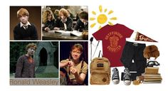 """Ron Weasley (tag)"" by purpleghost ❤ liked on Polyvore featuring JanSport, Converse and Elope"