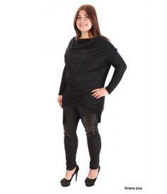Асиметричната туниката е изработена от памук и еластан, предницата е декорирана с фин тюл, под който има бляскаво сърце, което нежно прозираТуниката може да бъде поръчана с бляскаво сърце или сърце от черен лакБъдете различни и стилни по всяко време!Туниката се комбинира перфектно с клин или панталон