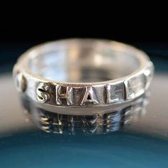 This too shall pass ... Inspirational quote on solid Fine Silver Ring