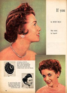 1953 hair style: some inspiration for the ladies