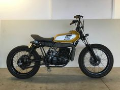 Custom Yamaha DT250 bratstyle street tracker commuter For Sale New Rochelle, New York, United States | AutoMotoClassicSale.com