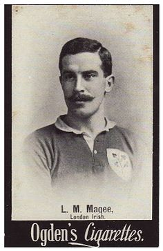 Cigarette Card of Louis Magee, Ireland and British Lions international rugby player - 1902 Rugby League, Rugby Players, Lions International, British Lions, Six Nations, Vintage Ephemera, Nice Body, Back In The Day, Vintage Men