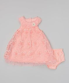 Look what I found on #zulily! Pink Floral Yoke Dress & Diaper Cover - Infant & Toddler #zulilyfinds