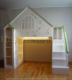 Кровать-домик, детская кровать, детская мебель