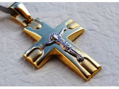 Solid 14K Gold Crucifix Cross 3.4gr. Free Shipping by KANTILAKI