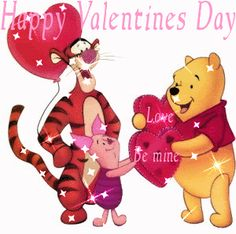 Animated valentines day wallpaper - Happy Valentine's Day 2017 Quotes,Ideas,Wallpaper,Images,Wishes Disney Valentines, Valentine Day Love, Pooh Bear, Tigger, Eeyore, Winnie The Pooh Cartoon, Valentine Picture, Valentines Day Greetings, Valentine Cards