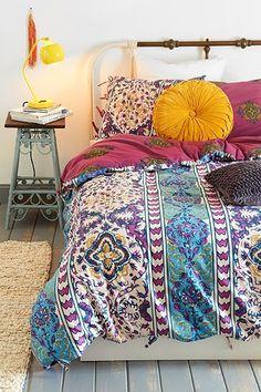 Magical Thinking Boho-Stripe Duvet Cover, urban outfitters, room decor, dorm ideas, bohemian room